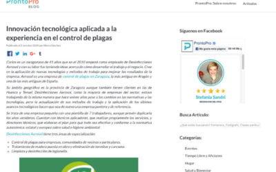 El Blog ProntoPro nos hace una entrevista